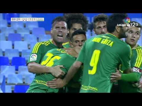 Golazo de Aitor García (1-1) Real Zaragoza vs Cádiz CF