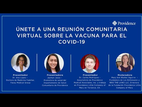 Spanish language Town Hall on the COVID-19 vaccine