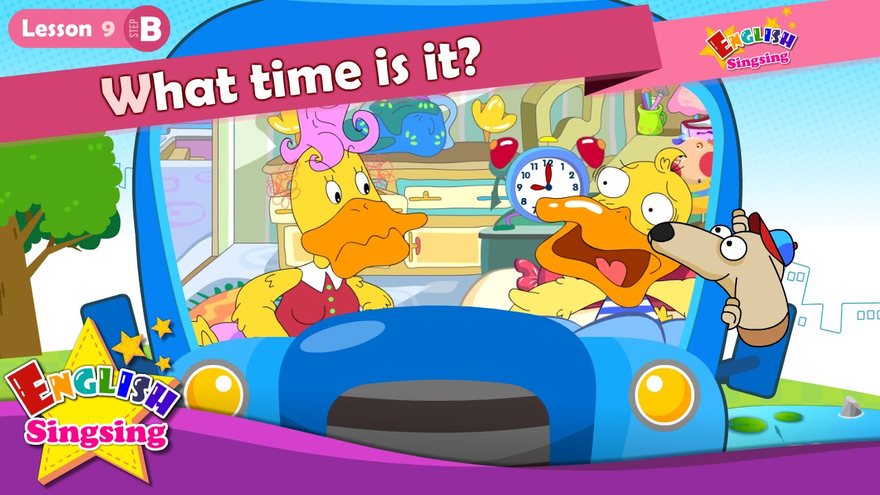 2b96ce727f Lesson 9_(B)What time is it? - Time - Cartoon Story - English Education -  Easy conversation for kids