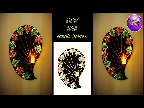 Diy Fall room decor | wall candle holder | craft ideas|  Fashion pixies