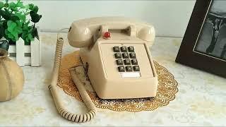 레트로풍 빈티지 데스크 집전화설치 인테리어 전화기