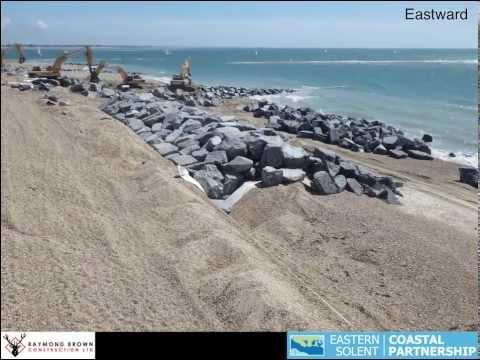 Construction of Rock Revetment Eastoke Point (2013)
