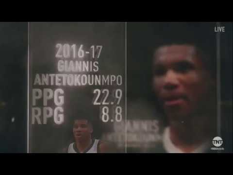 Giannis Antetokounmpo Wins the 2017 NBA Most Improved Player of the Year Award | NBA on TNT