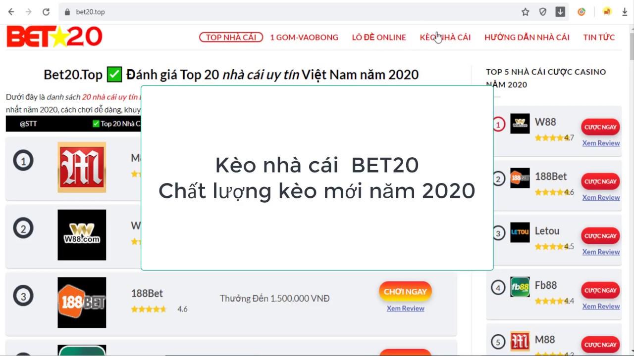 Download Giới thiệu Keo nha cai Bet20 mới nhất 2020  chất lượng kèo hàng đầu việt nam