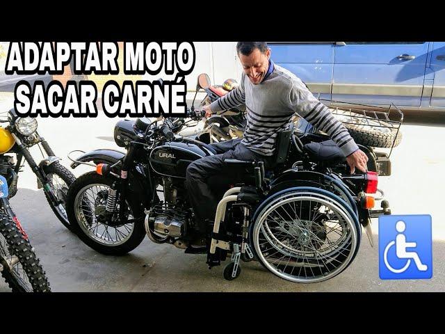 MOTIVACIÓN | Antonio adapta Moto a su paraplejia y saca carnet de moto con ella