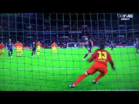 PSG - FC Barcelone 4  Aout 2012 Ibrahimovic ,menez,nene,messi