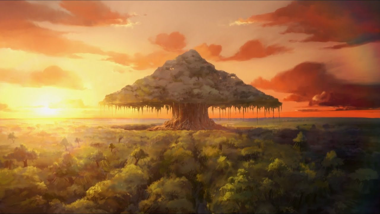 Falling Leaves Hd Live Wallpaper Aang And Korra Connecting To The World Banyan Grove Tree