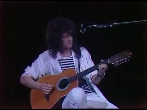 Freddie mercury & Brian Harold  may guitar Love of my life-Queen Band At The wembley Stadium 1986