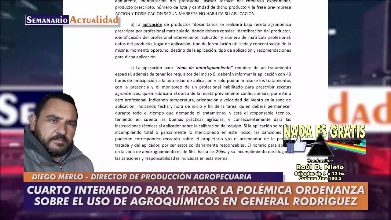 Cuarto intermedio para tratar la polémica ordenanza sobre el uso de agroquímicos en Rodríguez