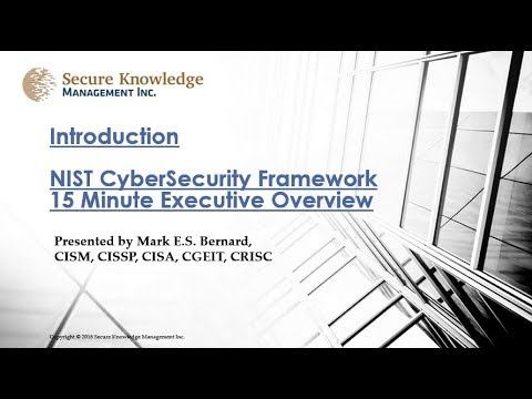 NIST Cybersecurity Executive Overview