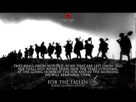 For The Fallen by Laurence Binyon - World War I Poem