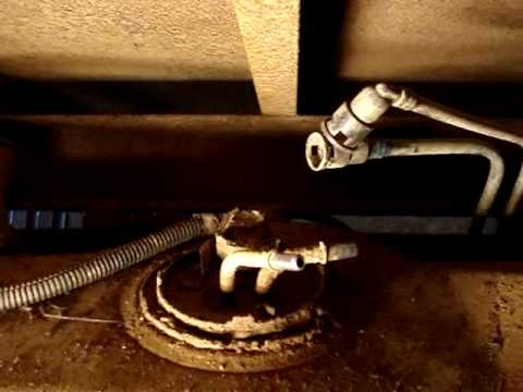 How to remove a Ford F250 Fuel tank - YouTube