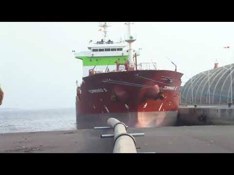 Llegada del Barco cisterna Tommaso S a La Palma