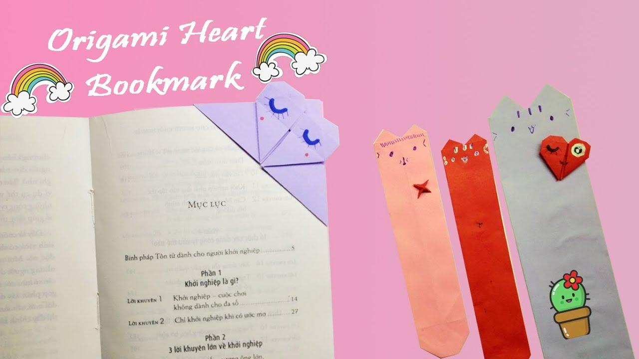 Cách làm bookmark bằng giấy cực đơn giản cho người chưa biết