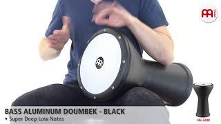 MEINL Percussion - MEINL Percussion - Bass Aluminum Doumbek, Black - HE-3200