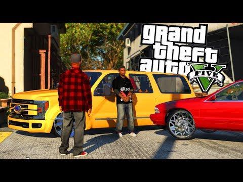 Lamar Steals Vagos Slammed X450! GTA 5 Gang Life #1