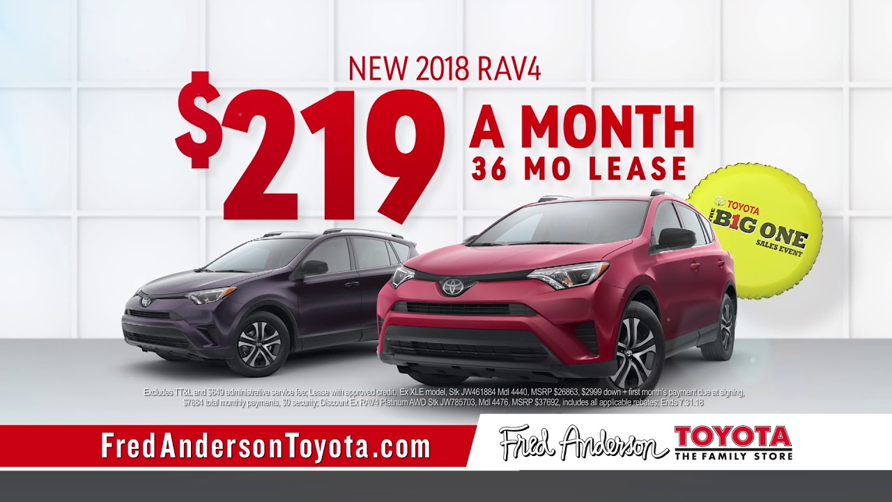Fred Anderson Toyota   The Big One   RAV4 Specials