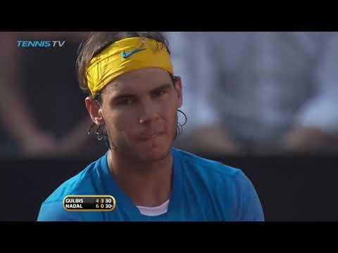 Nadal - Gulbis   Rome 2010 Semi Final HD