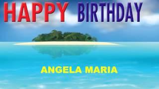AngelaMaria pronunciación en español   Card Tarjeta - Happy Birthday