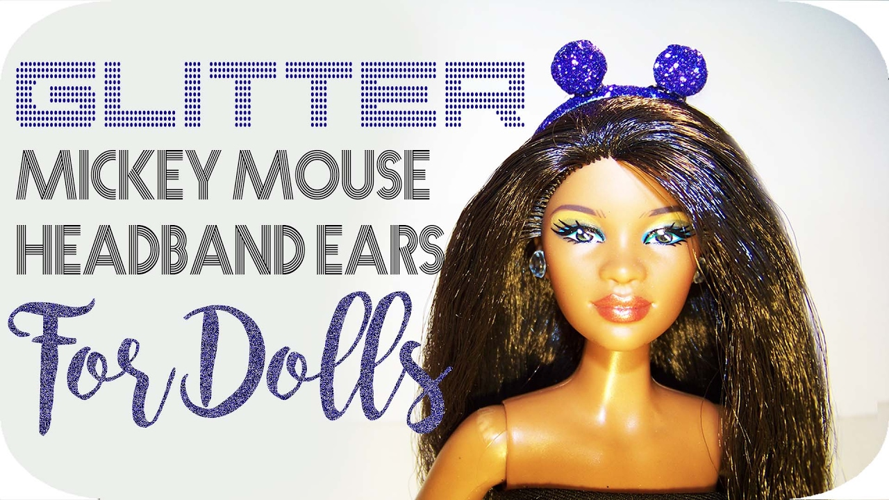 DIY Barbie Doll Stuff | How To Make Miniature Mickey Mouse Headband Ears