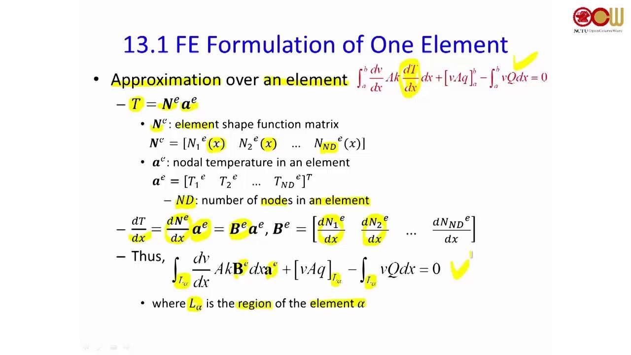 Lec0 28 Chapter 13 Finite Element Formulation (1/2)