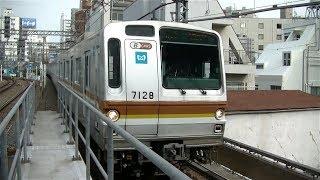 東京メトロ7000系7128F各停元町・中華街行き 東急東横線中目黒駅入線