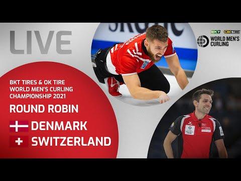 Denmark v Switzerland - Round Robin - World Men's Curling Championship 2021