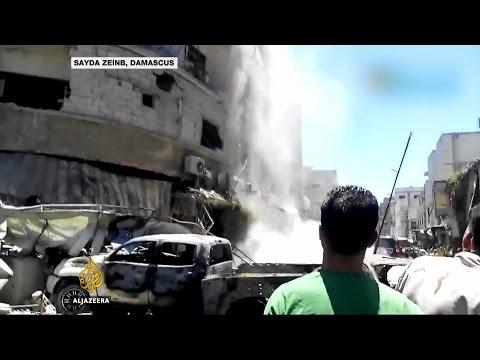 Twin bombings target Muslim shrine near Damascus