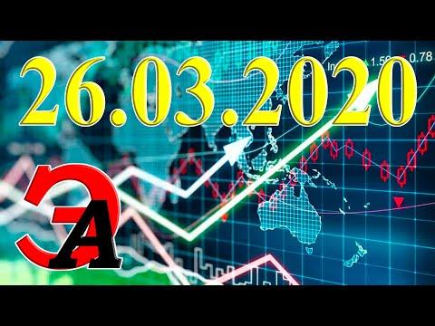 Курсы валют и цена на нефть сегодня 26 марта 2020 г. Доллар, Евро, нефть марки Brent, золото