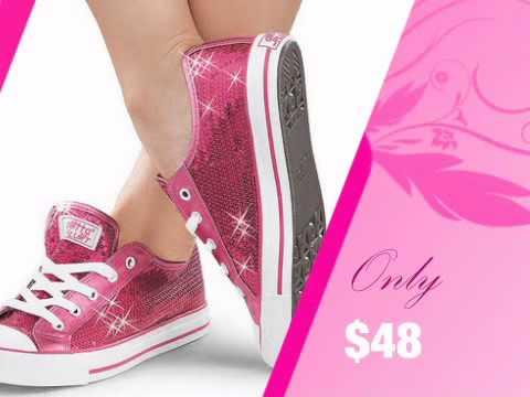 ladies-hot-pink-sequin-bridal-sneakers---bridesmaids-tennis-shoes