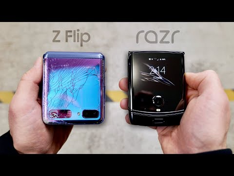 Samsung Galaxy Z Flip Vs Motorola RAZR DROP Test!