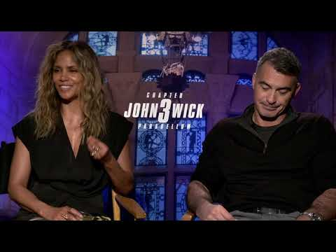 """""""John Wick 3""""with Actress  Halle Berry & Director Chad Stahelski"""