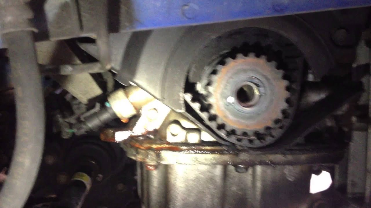 small resolution of chevy aveo timing belt idler fail