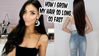 How I Grow My Hair Long and Healthy FAST (simple & free tips that WORK!)