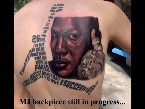 Michael Jordan Tattoo Timelapse - Motivational Tribute [HD]