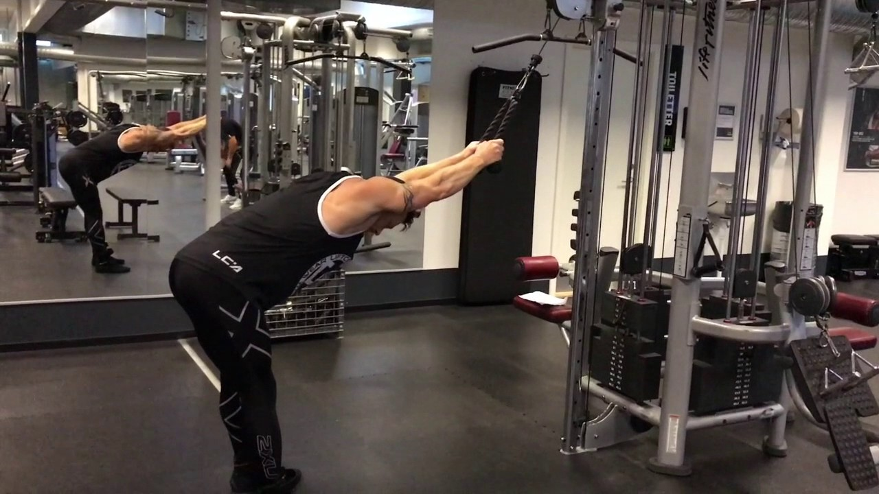 Straight Arm Pulldown Rope Cable Youtube