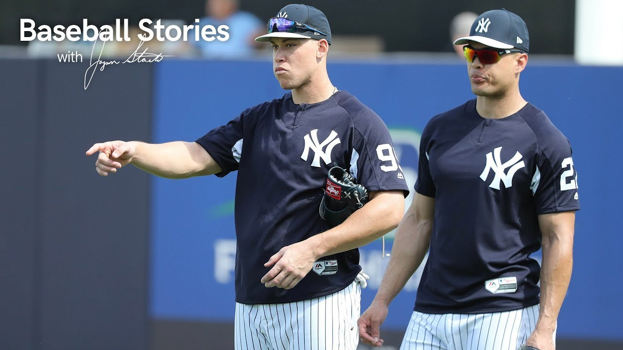 official photos e189a 256ea Giancarlo Stanton: Aaron Judge 'Definitely Further Along Than I Was' |  Baseball Stories