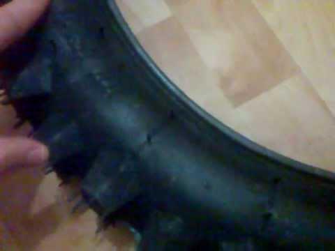Как сделать шипованную резину на велосипед - YouTube