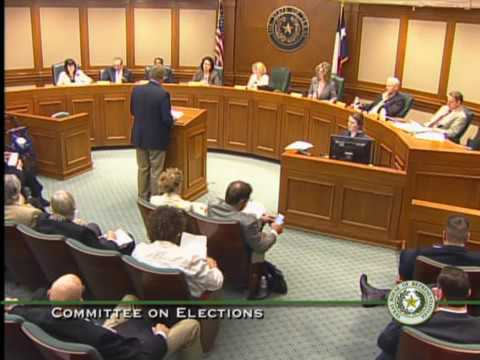 Texas House Committee on Elections Meeting - March 20, 2017