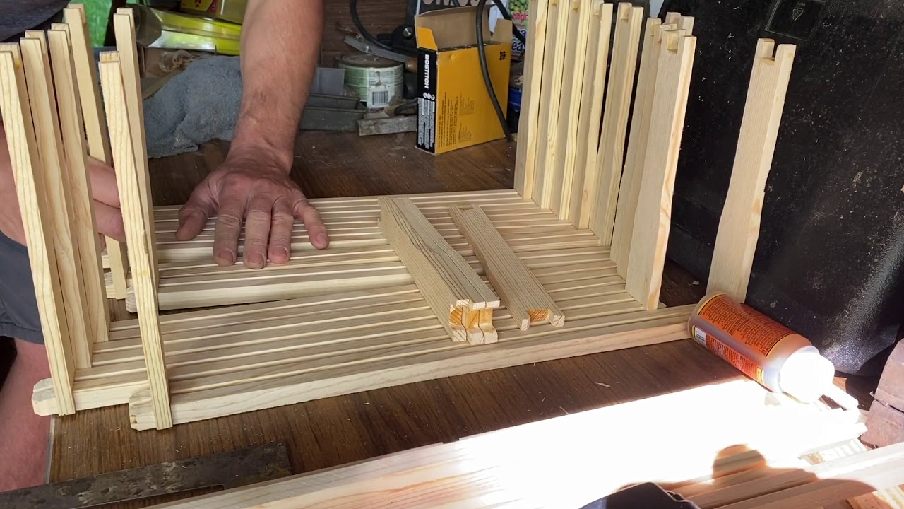 Express assembly of 10 honey bee frames without a jig