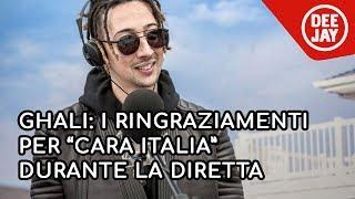 """Il discorso alla nazione di Ghali: """"Grazie per Cara Italia"""""""