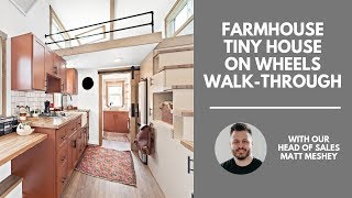 Farmhouse Tiny House on Wheels Walk-Through | Liberation Tiny Homes