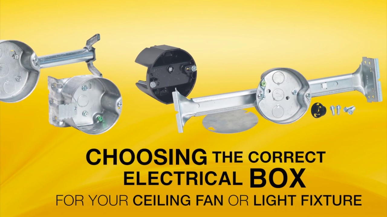 Raco 294 ceiling fan box youtube raco 294 ceiling fan box aloadofball Gallery