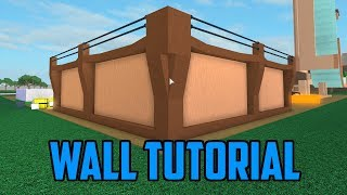 🔨Comment construire un mur! Roblox Lumber Tycoon 2