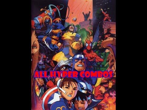 Marvel Super Heroes Vs Street Fighter: All Hyper Combos