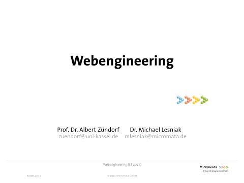 Web Engineering. Vorlesung 3 vom 08. Mai 2015