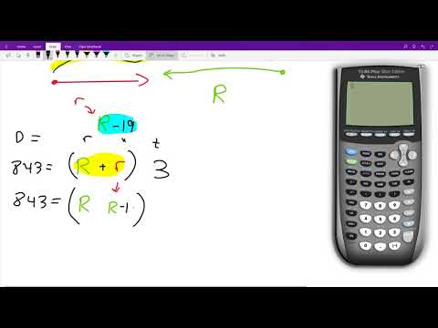 Solving a distance, rate, time problem using a system of linear equations