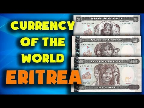 Currency of the world - Eritrea. Eritrean nakfa. Exchange rates Eritrea.Eritrean banknotes