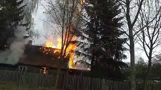 Pożar w Białymstoku 2017 Video