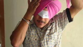 Pride Of Sardar New Tying Turban with Clozed Eyes on Another Head. 94174-13003